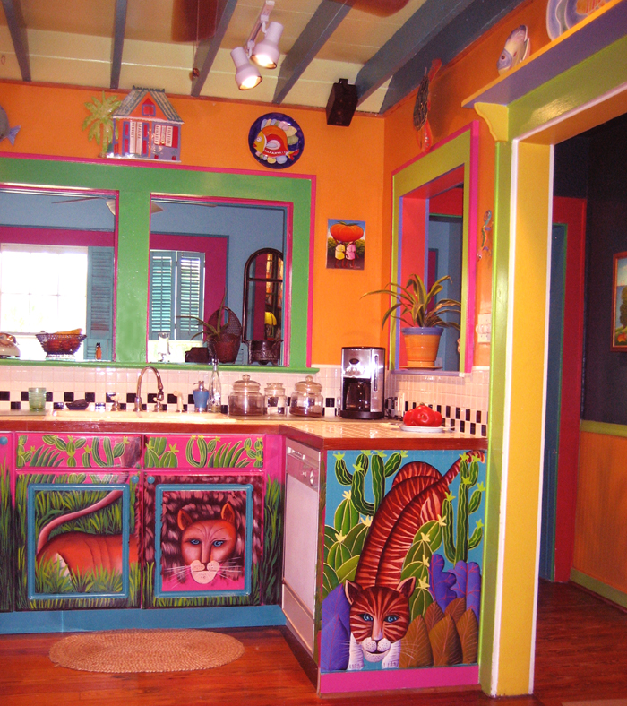 Painted kitchen cabinets mexican style pinterest for Mexican interior designs